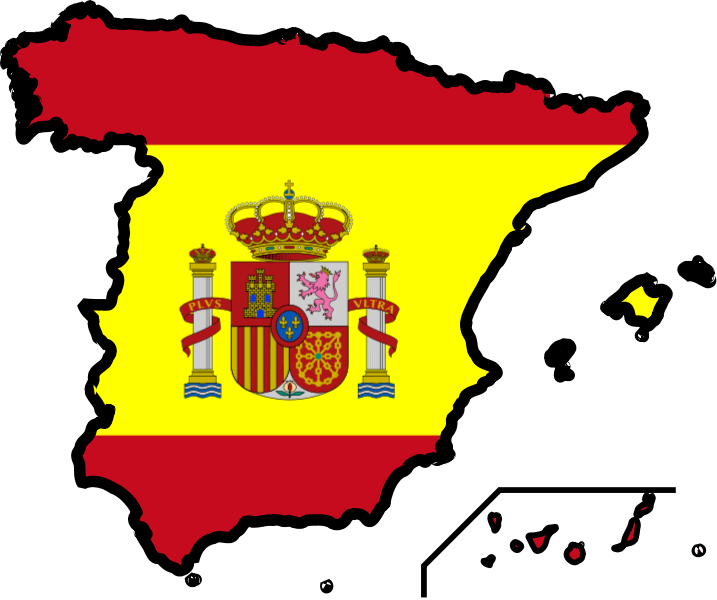 spain flag map color